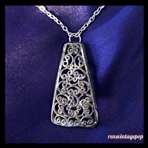 Filigree Swirl Necklace